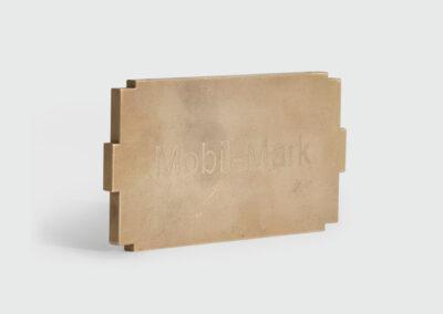 Lasergravur Formplatte Messing