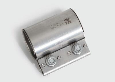 Lasergravur Rohrschelle Stahl